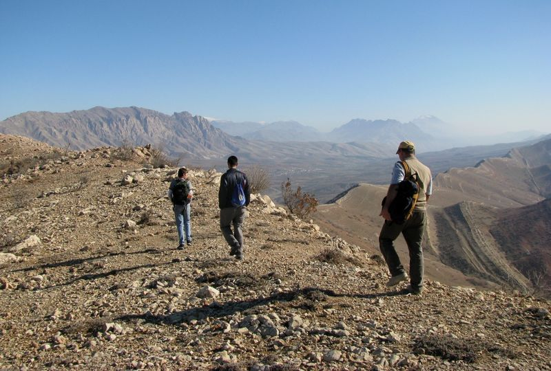 Walking Atop Qashqi Mountain