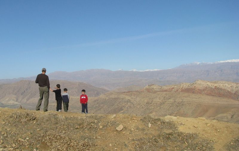 Dad and his boys on the Mountain Top