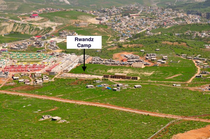 Rwandz Camp, aerial shot