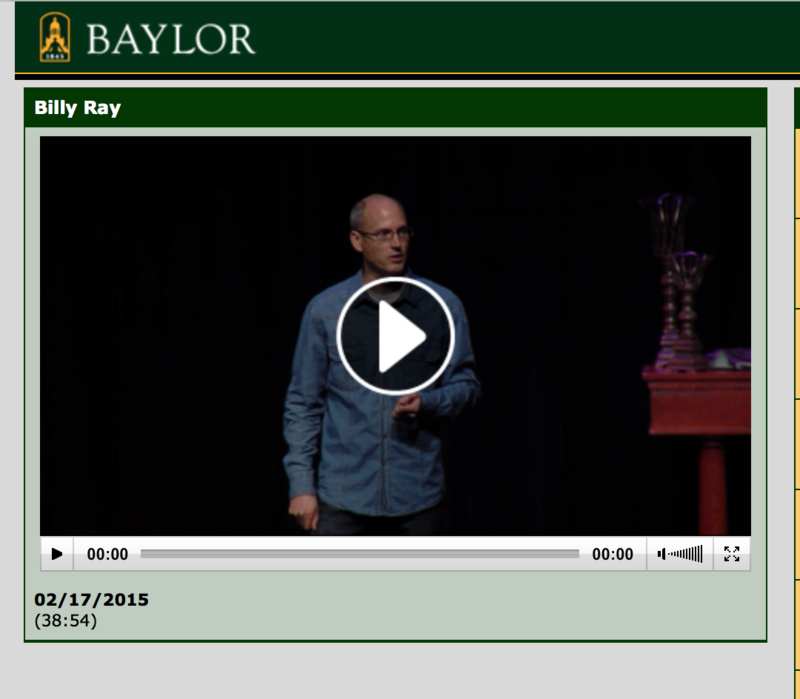 Speaking at Baylor University